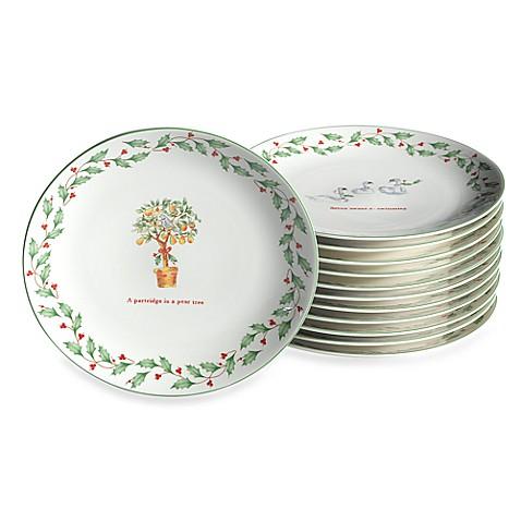 Lenox® Holiday™ Twelve Days of Christmas Dessert Plates (Set ...  sc 1 st  Bed Bath u0026 Beyond & Lenox® Holiday™ Twelve Days of Christmas Dessert Plates (Set of 12 ...