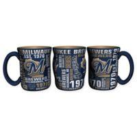 MLB Milwaukee Brewers 17 oz. Sculpted Spirit Mug