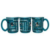 NHL San Jose Sharks 17 oz. Sculpted Spirit Mug
