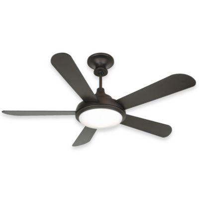 Design trends triumph ceiling fan in oiled bronze