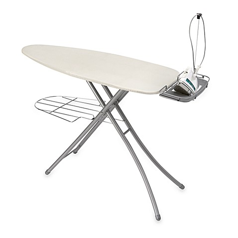 Deluxe Wide Top Ironing Board With Extension Cord Bed