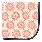 Touched by Nature Moroccan Organic Cotton Knit Blanket in Pink/Blue