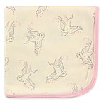Touched by Nature Bird Organic Cotton Knit Blanket in Pink/Grey