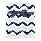 Hudson Baby® Chevron Super Plush Blanket in Blue