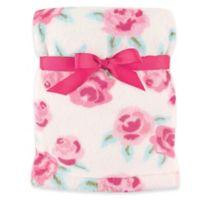 Hudson Baby® Rose Super Plush Blanket in Pink