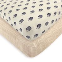 Touched by Nature 2-Pack Hedgehog Organic Cotton Fitted Crib Sheets