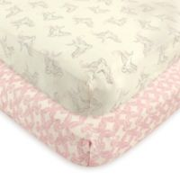 Touched by Nature 2-Pack Bird Organic Cotton Fitted Crib Sheets