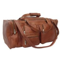 Piel® Leather 24-Inch Duffel with Pockets in Saddle