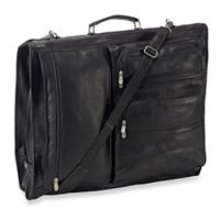 Piel® Leather Classic Executive Expandable Garment Bag in Black