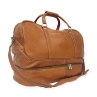 Piel® Leather False-Bottom Sports Bag in Saddle