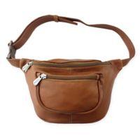 Piel® Leather Traveler's Waist Bag in Saddle