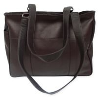 Piel® Leather 15-Inch Classic Shopping Bag in Chocolate