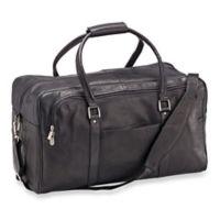Piel® Leather Half-Moon Duffle Bag in Black