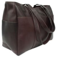 Piel® Leather 18-Inch Classic Shopping Bag in Chocolate
