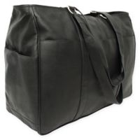 Piel® Leather 18-Inch Classic Shopping Bag in Black