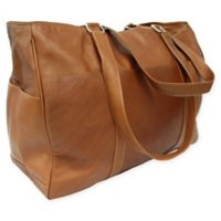 Piel® Leather 18-Inch Classic Shopping Bag in Saddle
