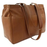Piel® Leather 17-Inch Classic Shopping Bag in Saddle