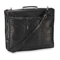 Piel® Leather 23-Inch Leather Elite Garment Bag in Black