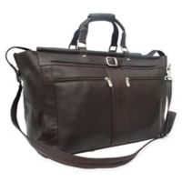 Piel® Leather Carpet Bag in Chocolate