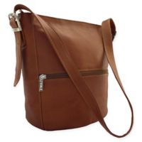 Piel® Leather 12.5-Inch Bucket Bag in Saddle