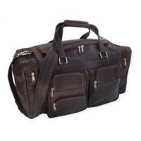 Piel® Leather 20-Inch Duffle Bag with Pockets in Chocolate