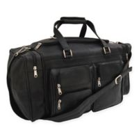 Piel® Leather 20-Inch Duffle Bag with Pockets in Black