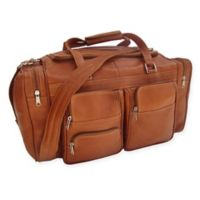 Piel® Leather 20-Inch Duffle Bag with Pockets in Saddle