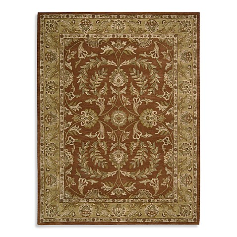 Nourison India House Hand Tufted Area Rug In Rust Bed