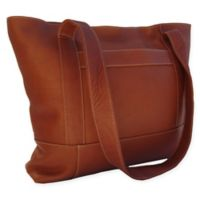 Piel® Leather Top-Zip Tote in Saddle