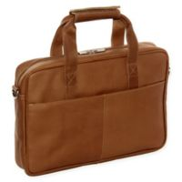 Piel® Leather Classic Top-Zip Portfolio in Saddle