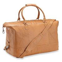 Piel® Leather 19-Inch Classic Satchel Carry On in Honey