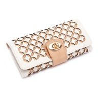 Wolf Designs Chloe Leather Jewelry Roll in Cream