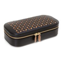 Wolf Designs® Chloe Zip Travel Jewelry Case in Black