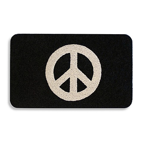 Peace Sign 18 Quot X 30 Quot Door Mat Bed Bath Amp Beyond