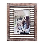 Prinz 5-Inch x 7-Inch Galvanized Metal and Wood Border Picture Frame in Natural