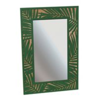 Grasslands Road Palm Leaf Tropical Mirror