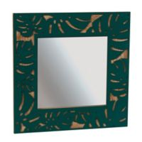 Grasslands Road Monstera Leaf Tropical Mirror