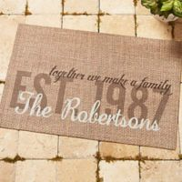 """""""Together we Make a Family"""" 18-Inch x 27-Inch Door Mat"""