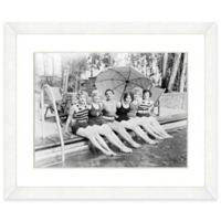 Bathing Beauties Print II 22-Inch x 18-Inch Framed Wall Art