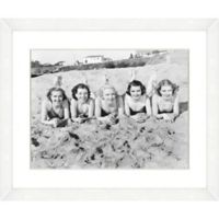 Bathing Beauties Print V 22-Inch x 18-Inch Framed Wall Art