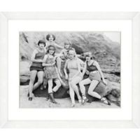 Bathing Beauties Print VI 22-Inch x 18-Inch Framed Wall Art
