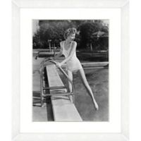 Bathing Beauties Print VII 22-Inch x 18-Inch Framed Wall Art
