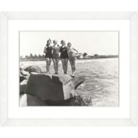 Bathing Beauties Print IX 22-Inch x 18-Inch Framed Wall Art