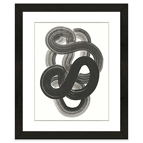 image of Black Abstract I 18-Inch x 22-Inch Framed Wall Art