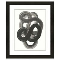 Black Abstract I 18-Inch x 22-Inch Framed Wall Art