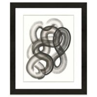 Black Abstract III 18-Inch x 22-Inch Framed Wall Art