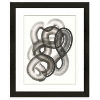 Black Abstract III 18-Inch x 22-Inch Framed Wall Art