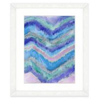 Watercolor Chevron 18-Inch x 22-Inch Framed Wall Art in Blue