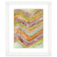 Watercolor Chevron 18-Inch x 22-Inch Framed Wall Art in Orange