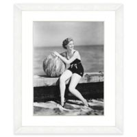 Beachball Beauty II 18-Inch x 22-Inch Framed Wall Art